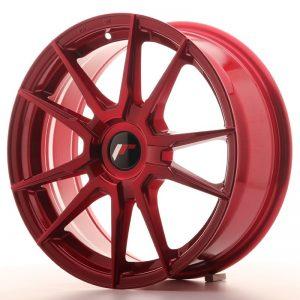 Japan Racing JR21 17x7 ET25-40 Blank Platinium Red