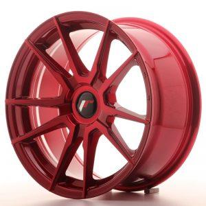 Japan Racing JR21 17x8 ET25-35 Blank Platinium Red