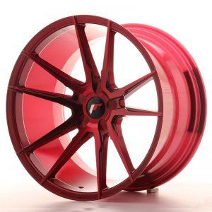 Japan Racing JR21 20x11 ET30-50 5H Blank Plati Red