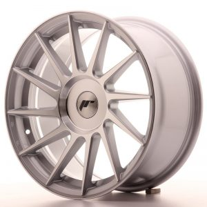 Japan Racing JR22 17x8 ET35 Blank Silver Machin