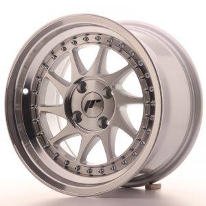 Japan Racing JR26 15x8 ET5 4x100 Machined Sil