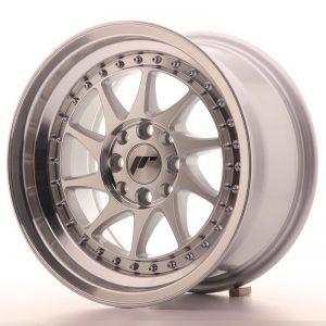 Japan Racing JR26 15x8 ET25 4x100/108 Machined Sil