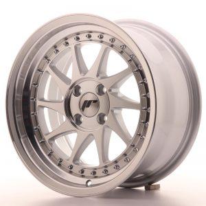Japan Racing JR26 16x8 ET30 4x100 Mach Silver