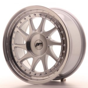 Japan Racing JR26 17x8 ET20-35 Blank Mach Silver