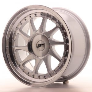Japan Racing JR26 17x9 ET20-35 Blank Mach Silver
