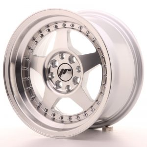 Japan Racing JR6 15x8 ET25 4x100/108 Machined Sil