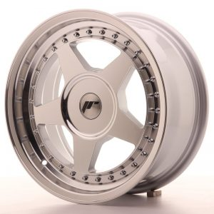 Japan Racing JR6 16x7 ET20-35 Blank Mach Silver