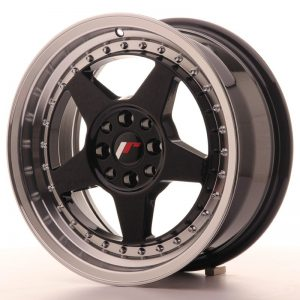 Japan Racing JR6 16x7 ET25 4x100/108 Glossy Black