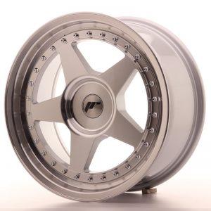 Japan Racing JR6 17x8 ET20-35 Blank Mach Silver