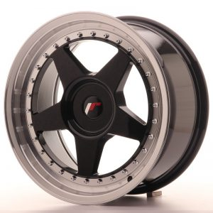 Japan Racing JR6 17x8 ET35 Blank Glossy Black