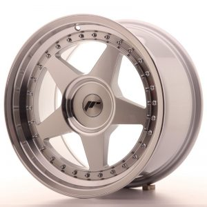Japan Racing JR6 17x9 ET20-35 Blank Mach Silver
