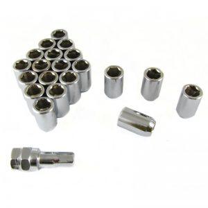 Set of SILVER imbus lug nuts 12x1,5 + Key